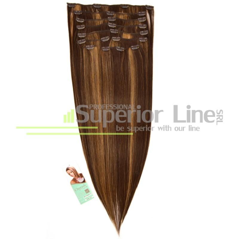 Cherish удължаване на коса Изкуствена Clip In (цвят P4/27)