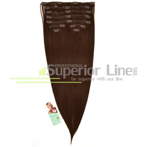 Cherish удължаване на коса Изкуствена Clip In (цвят 6)
