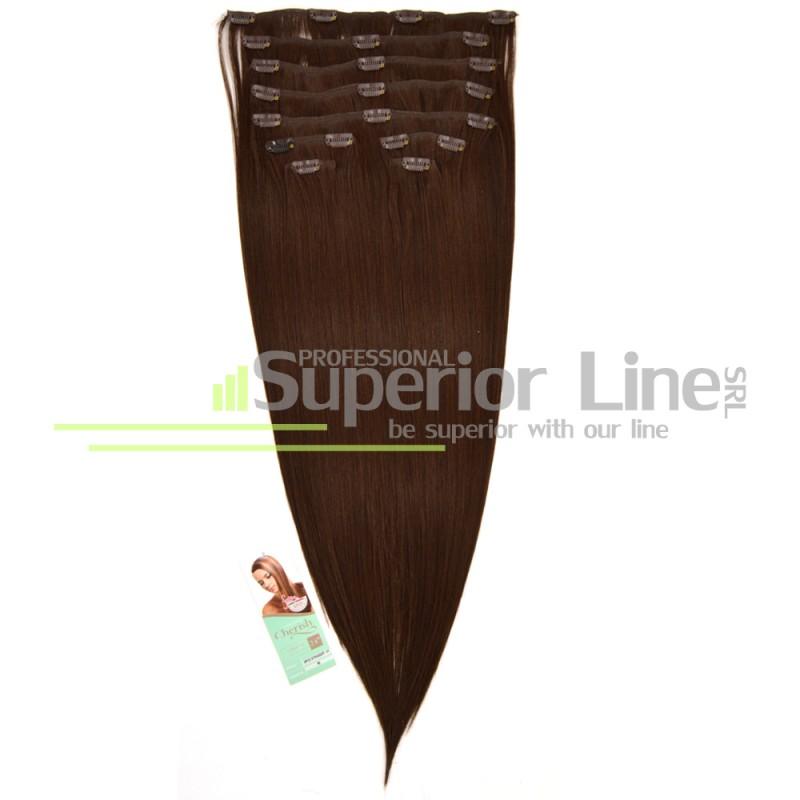 Cherish Clip-In синтетични разширения за коса клип (цвят 6)