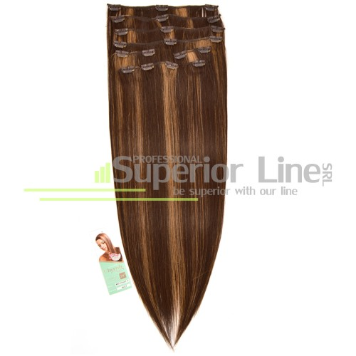 Cherish удължаване на коса Изкуствена Clip In (цвят 6/27)