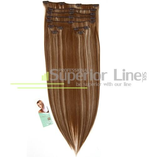 Cherish удължаване на коса Изкуствена Clip In (цвят 18/22)