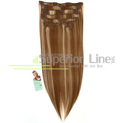 Cherish удължаване на коса Изкуствена Clip In (цвят 18/613)
