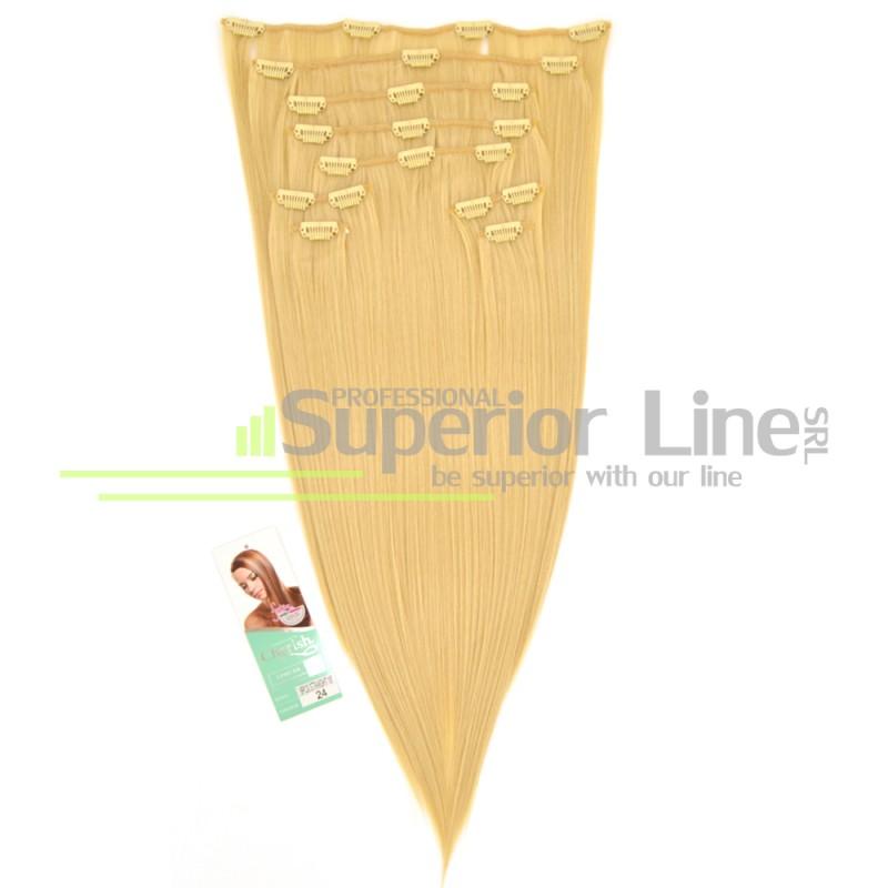 Cherish Clip-In синтетични разширения за коса клип (цвят 24)