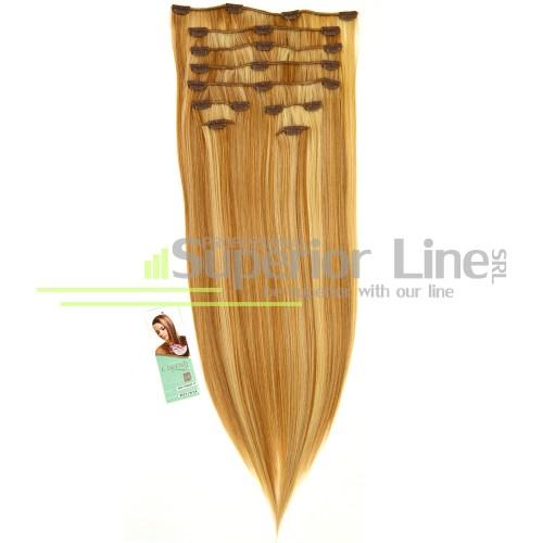 Cherish Extensions à clips Cheveux synthétiques (couleur P27/613)