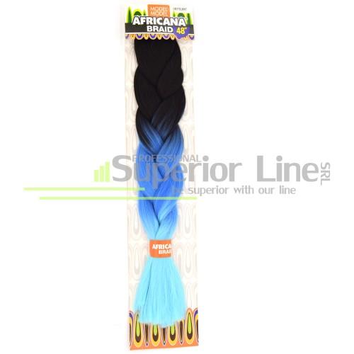 Africana Braid lasje sintetični kanekalon za pletenice afriški (farba OM3TBLMINT)