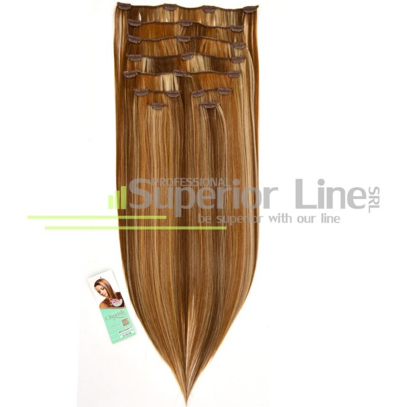 Cherish удължаване на коса Изкуствена Clip In (цвят 8/10/24)