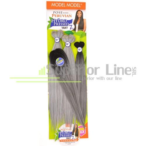 Model Model Pose Peruvian Pазширения за коса за шиене 7 броя (цвят OTSILVERG)