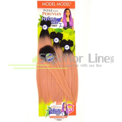 Pose Peruvian Bündeln Haarverlängerung thermofiber (farbe