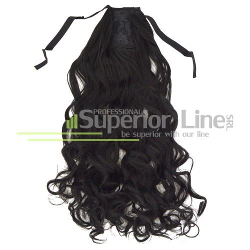 опашка от Изкуствена права коса къдрици (цвят 1)