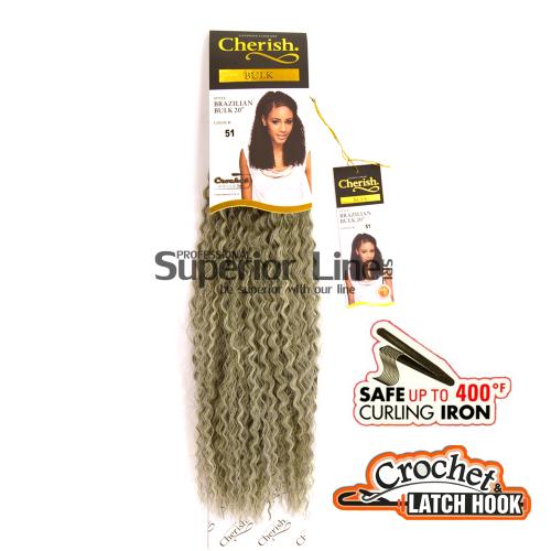 Cherish Brazilian удължения за коса синтетични къдрици афро плетене на една кука (цвят 51)