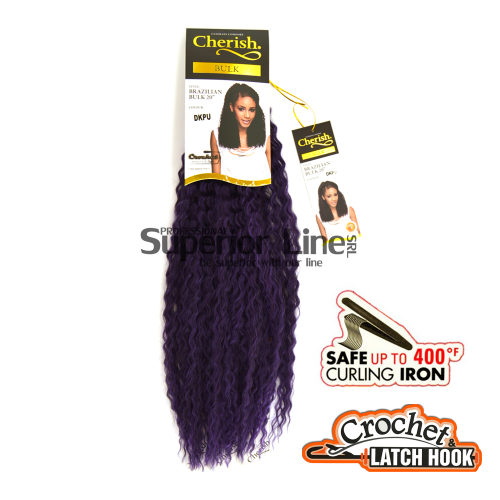 Cherish Bulk Brazilian Crochet braids extensions (color DKPU)