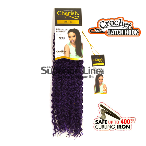 Cherish Bulk Bohemian Crochet braids (color DKPU)