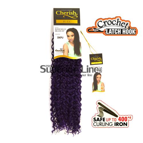 Cherish Bohemian mèches de cheveux crochet tresses (couleur DKPU)
