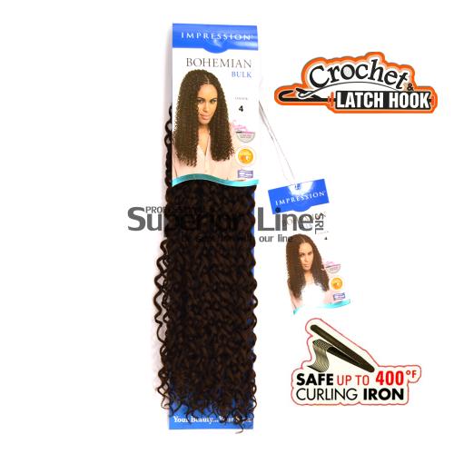 Impression Bohemian удължения за коса синтетични къдрици афро плетене на една кука (цвят 4)