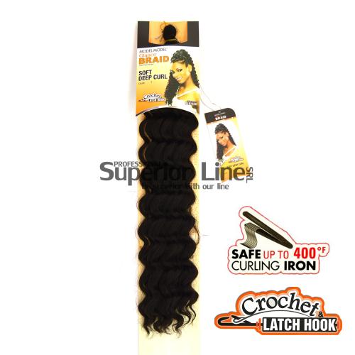 Glance Soft Deep удължения за коса синтетични къдрици афро плетене на една кука (цвят 1)
