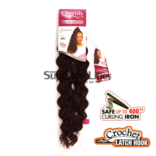 Cherish Bulk Ravish crochet braids (color 99J)
