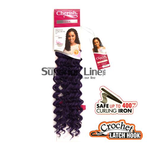 Cherish Pronto удължения за коса синтетични къдрици афро плетене на една кука (цвят DKPU)