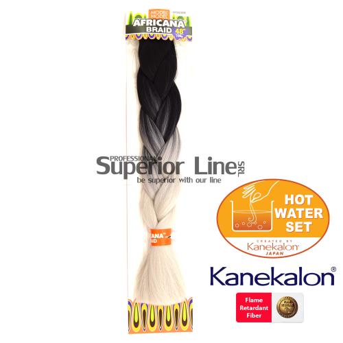 Africana Braid szintetikus hajat az afro kötéshez (szín OTSILVER)