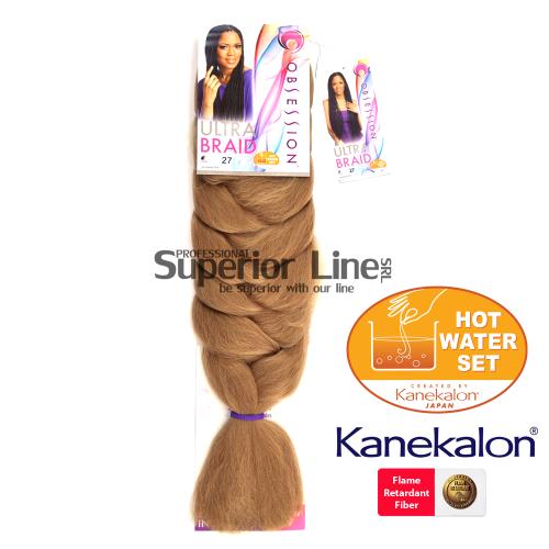 Obsession Ultra Braid szintetikus hajat az afro kötéshez (szín 27)