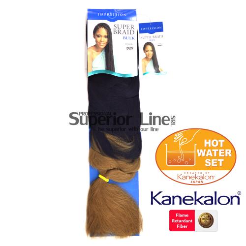 Impression Super Braid szintetikus hajat az afro kötéshez (szín DE27)