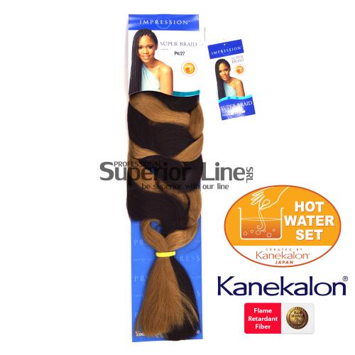 Impression Super Braid szintetikus hajat az afro kötéshez (szín P4/27)