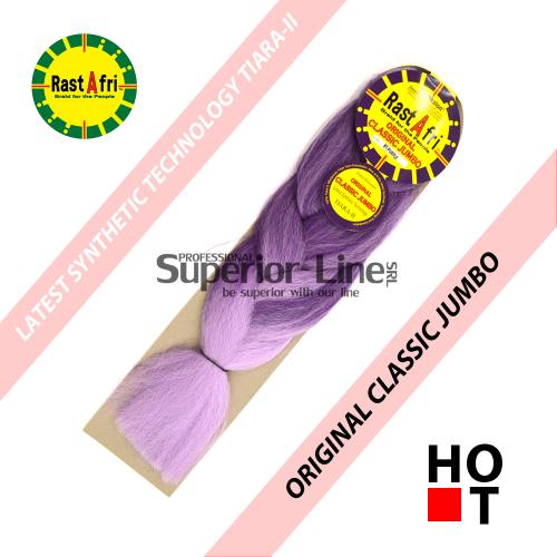 Rastafri Classic ile-luzapen sintetikoak afrikako txirikordak egiteko (kolore BT/PURPLE)