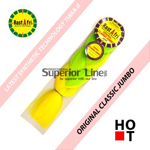 Rastafri Classic ile-luzapen sintetikoak afrikako txirikordak egiteko (kolore BT/GR.YELLOW)