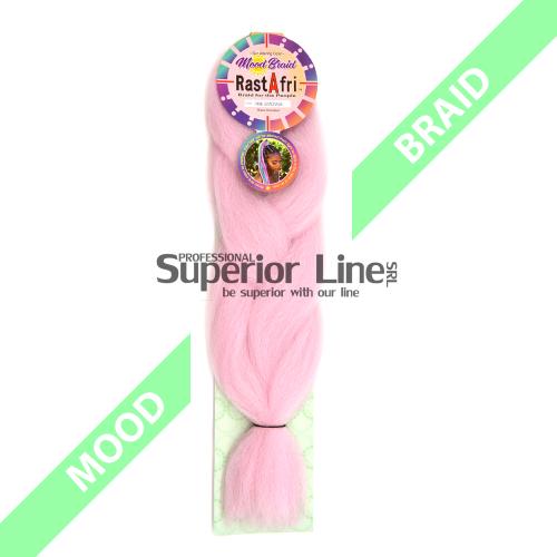 RastAfri Mood Braid Синтетични коса за африканска плитка (цвят PINK LEMONADE)