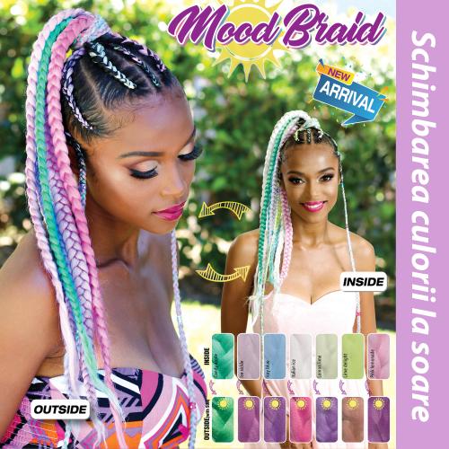 Rastafri AFB Синтетични коса за африканска плитка (цвят ICEY