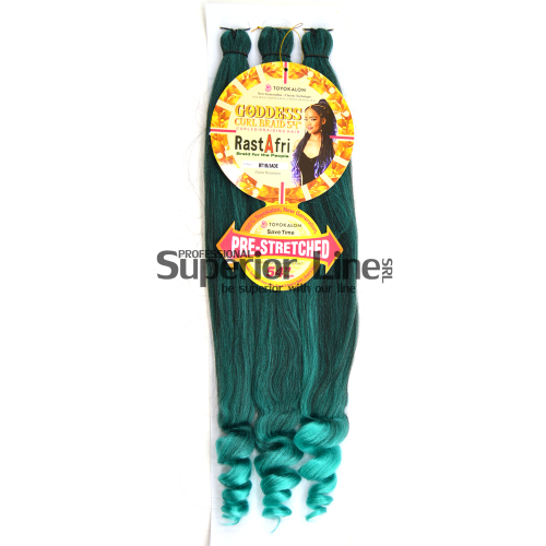Rastafri Goddess 3X Braid Pre Streched (color BT1B/JADE)