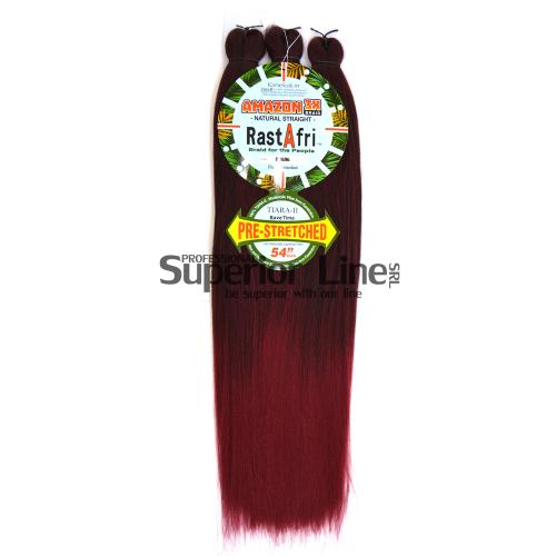 Rastafri Amazon 3X Pre Streched Синтетични коса за африканска плитка (цвят BT1B/BG)
