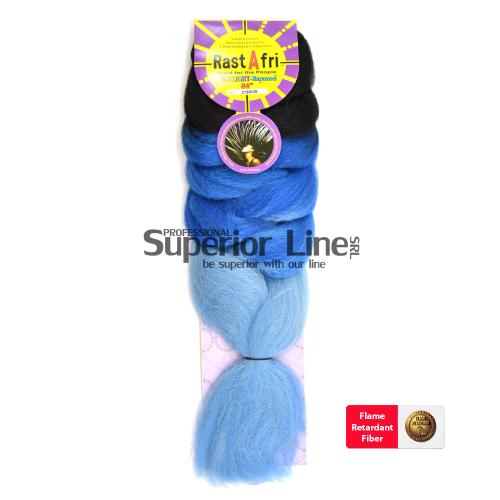 Rastafri HighLight Jumbo Braid (culoar 3T1B/BLUE)