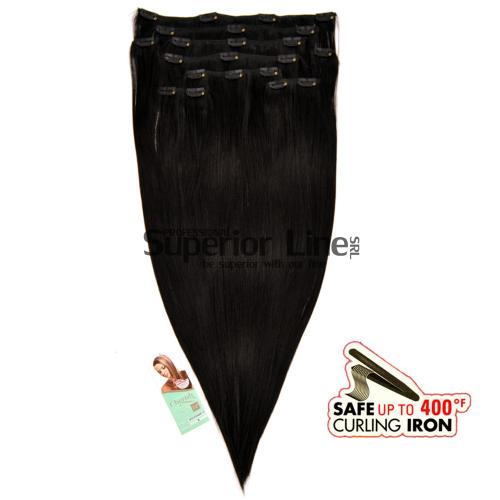 Cherish Clip-In синтетични разширения за коса клип (цвят 1)