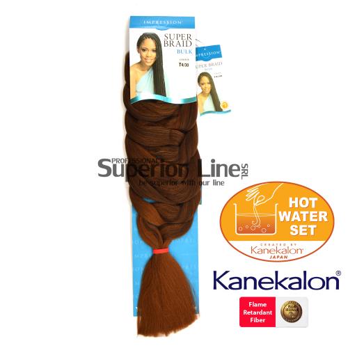 Impression Super Braid cheveu synthétique tresses kanekalon (couleur T4/30)
