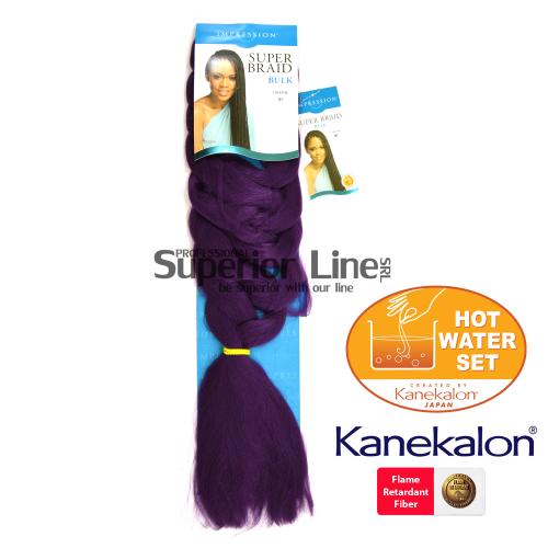 Impression Super Braid szintetikus hajat az afro kötéshez (szín VI)