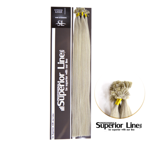 Superior Line Keratin Tip U Human Hair Remy (color SILVER)