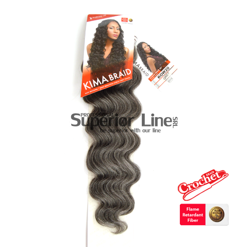 Kima Ocean Wave crochet braids (color GREY)