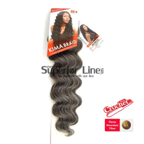 Kima Ocean Wave mèches de cheveux crochet tresses (couleur GREY)