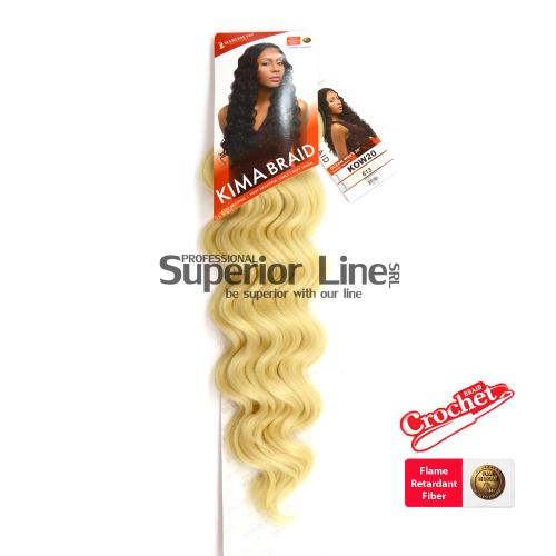 Kima Ocean Wave удължения за коса синтетични къдрици афро плетене на една кука (цвят 613)