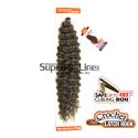 Model Model Glance Deep Twist удължения за коса синтетични къдрици афро плетене на една кука (цвят GREY)