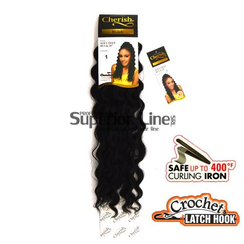 Cherish Soft Deep mèches de cheveux crochet tresses (couleur 1)