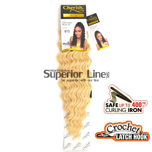 Cherish Bulk Soft Deep hajhosszabbitas szintetikus fürtök afro (szín 613)