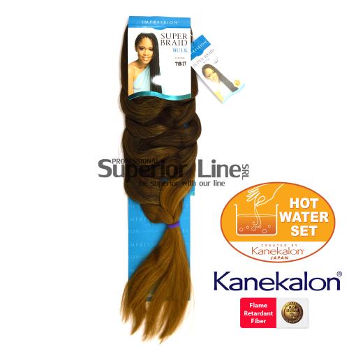 Impression Super Braid Синтетични коса за африканска плитка (цвят T1B/27)