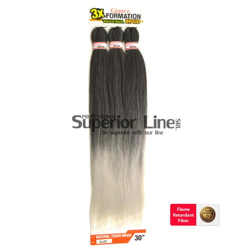 Glance 3X Formation Pre Streched szintetikus hajat az afro