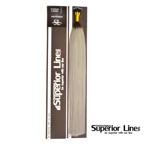 Superior Line ONe Extensions Human Hair Remy NanoRing (color BLACK shades with GRAY)