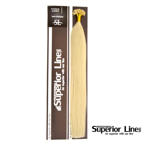 Superior Line ONe Keratin Tip U Удължаване на човешката коса (цвят BLOND PLATINATED)