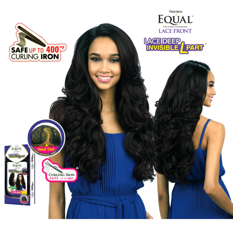 Freetress Equal Falomi Invisible L Part Lace Deep wig synthetic