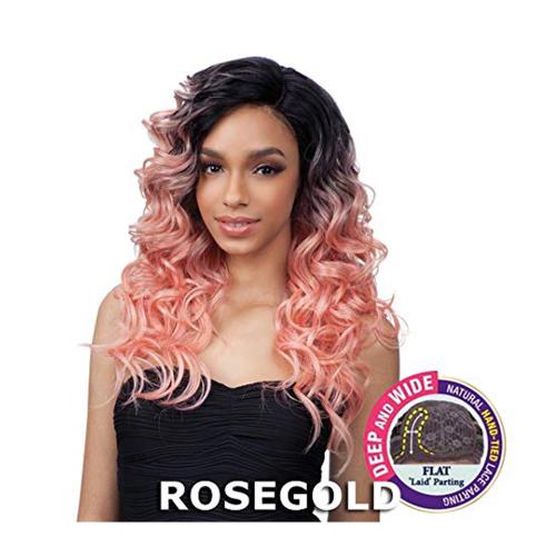 Freetress Equal Toby Delux Lace Part Синтетични перуки за коса (цвят ROSEGOLD)