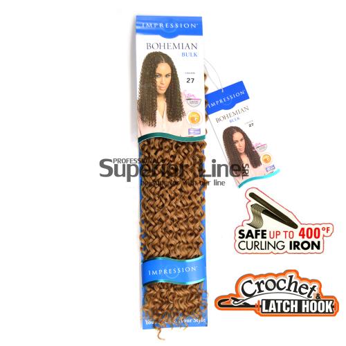 Impression Bohemian sintetični afriški lasje kvačkanje pletenice (farba 27)