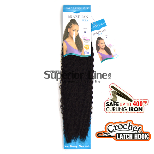 Impression Bulk Brazilian Crochet braids extensions (color 4)